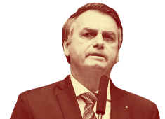 Imagem de busto do Jair Bolsonaro