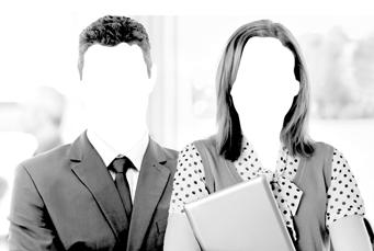 Homem e mulher do setor público