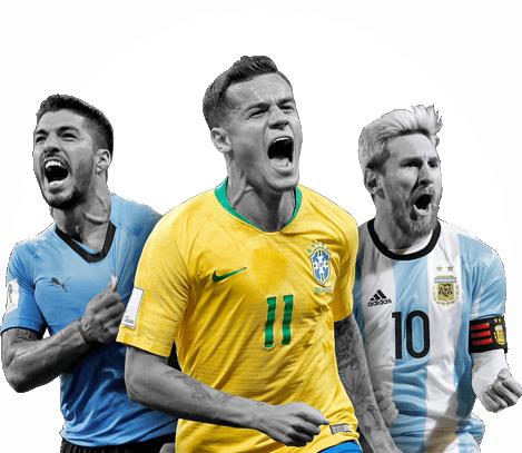 Craques da Copa América - Philippe Coutinho, Lionel Messi e Suis Suáres