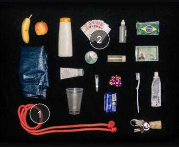 Objetos do morador de rua