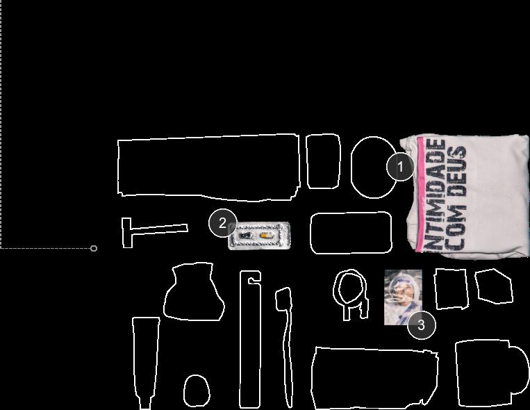 Detalhes dos objetos do morador de rua